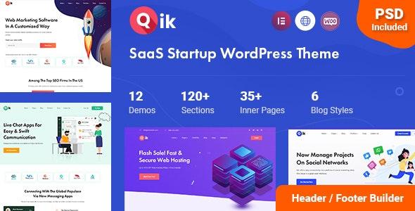 Qik - тема WordPress для SaaS стартапа
