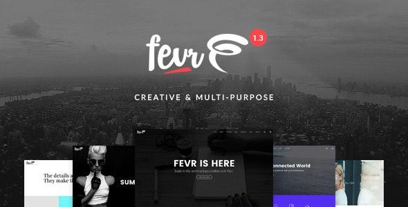 Fevr - творческая многоцелевая тема WordPress
