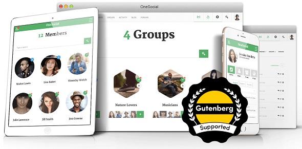 OneSocial - премиум шаблон для BuddyPress