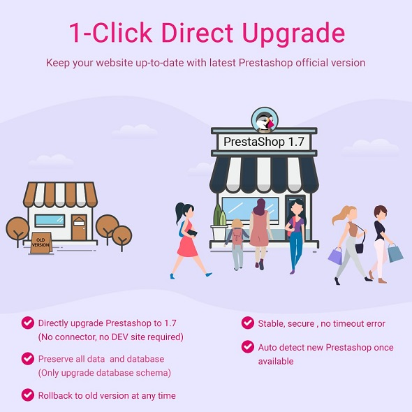 Модуль 1-Click Direct Upgrade to 1.7 - Better, faster & stable