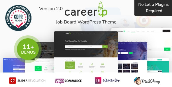 CareerUp - шаблон портала вакансий WordPress