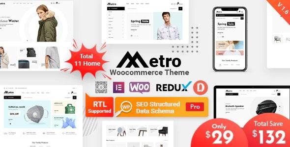 Metro - минимальная тема WordPress для WooCommerce