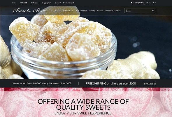 Candy Shop OpenCart Template