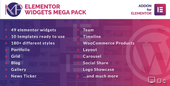 Elementor Widgets Mega Pack