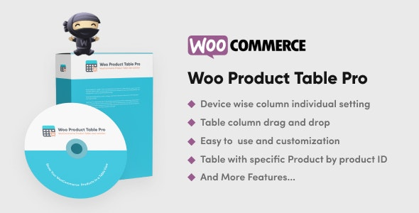 Woo Products Table