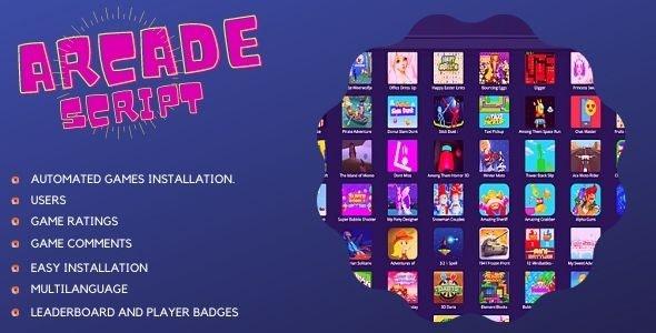 Mobile Responsive Arcade Site Script